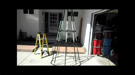 how to make christmas lights work again how to make a pvc spiral tree update youtube