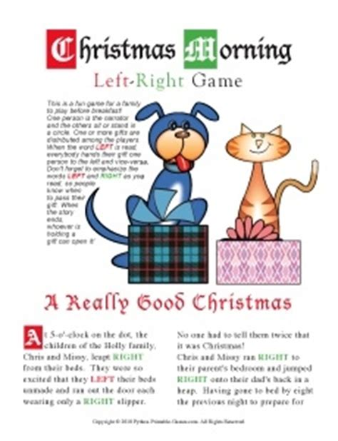 Gift Exchange Letter Left Right Morning Left Right Not Free But Lots Of Other Gift Pass