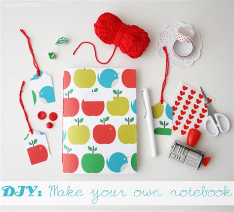 Diy Lu luloveshandmade diy how to make an easy mini notebook