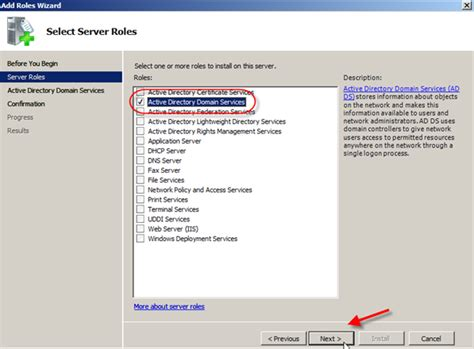 windows server  install active directory domain