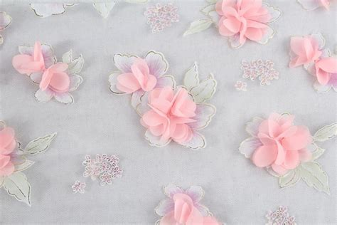 Kain Organza 3d china wholesale indian emboidered printed organza fabric
