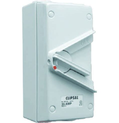 Isolator Switch Clipsal 20a 440v tp surface mount isolator