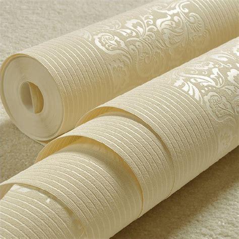 luxury flocking textured wallpaper modern wall paper roll luxury european flock non woven metallic floral 3d