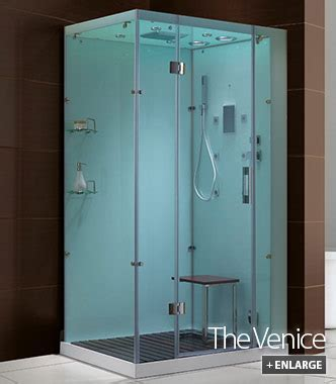 Venice Glass Steam Shower Cabinet (white)