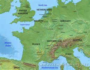 Physical Map Of Western Europe by Western Europe Region Related Keywords Amp Suggestions