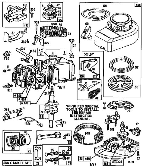 briggs and stratton lawn mower engine parts diagram 7 best images of briggs and stratton parts diagram