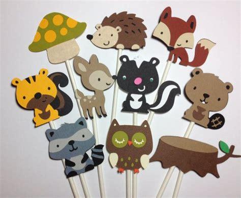 set of 12 woodland animal cupcake toppers birthday baby
