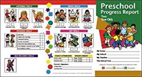nursery report card sle buy preschool progress report 2 year olds at low