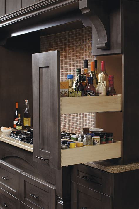 wall pantry pull  cabinet kitchen craft cabinetry