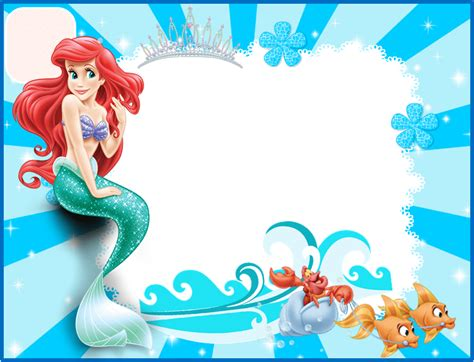 Free Printable Ariel The Little Mermaid Baby Shower Invitation Template Free Printable Baby Free Mermaid Invitation Templates