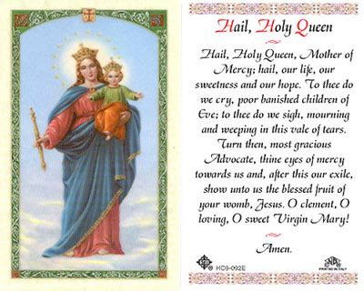 holy cards    hail holy queen