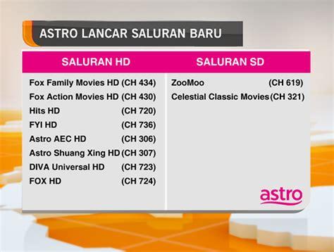 Harga Channel Astro astro lancar 10 saluran baharu astro plus mrm
