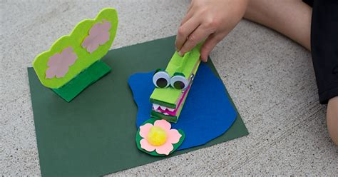extra large clothespin crocodile craft  kids
