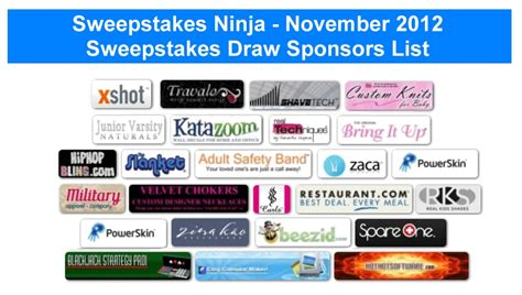 Sweepstakes Winners List - 3 000 in prize winners announced for november 2012 sweepstakes ninja sweepstakes draws