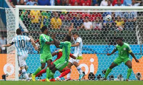 fifa world cup 2014 match in pics nigeria vs argentina
