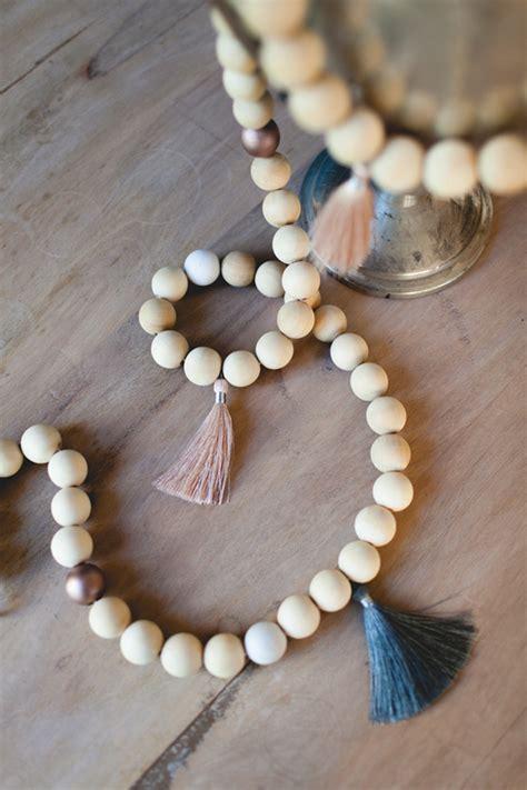 wood bead garland diy tassel and wood bead garland coco kelley coco kelley