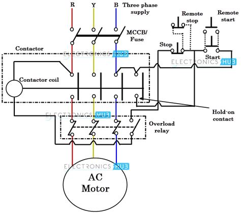 single phase motor contactor wiring diagrams wiring