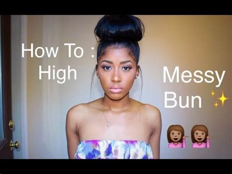how to make a high bun with a bang how to high messy bun with clip in hair extensions