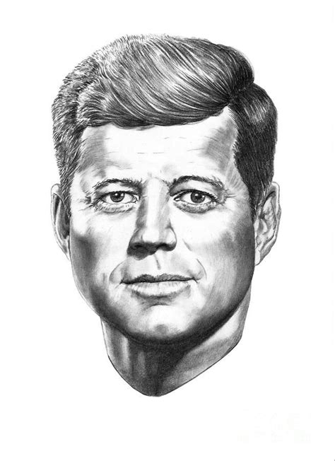 F Drawing Pencil by President F Kennedy Drawing By Murphy Elliott Plant