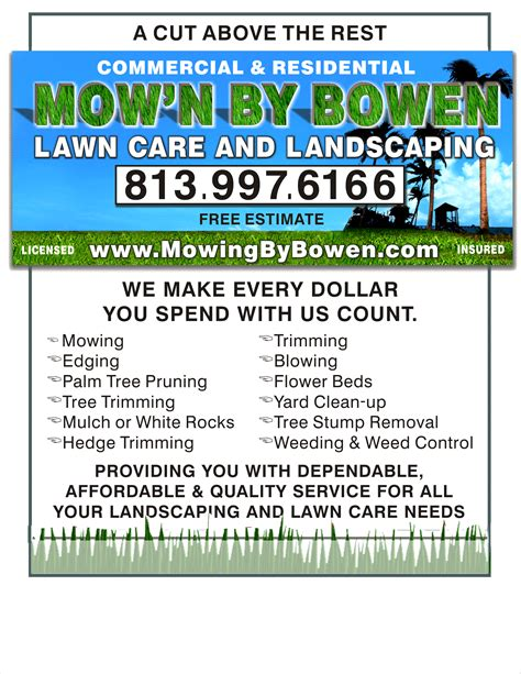 exles of lawn mowing flyers joy studio design gallery