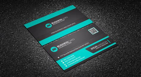 eye catching business cards templates free minty green corporate business card template