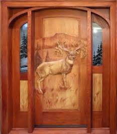 Carved Exterior Doors Handcarved Mule Deer On Wooden Door Photo Via Web And Beautiful Doors