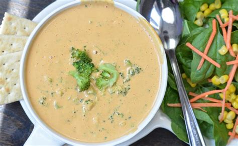 vegan broccoli cheese soup vitamix