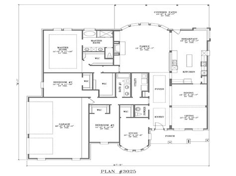 Best One Story Floor Plans by Best One Story House Plans One Story House Blueprints