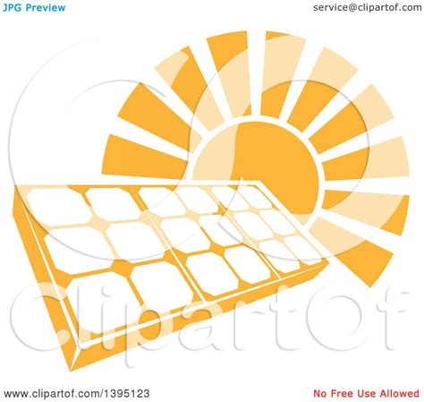 royalty free solar panel clip art vector images clipart of a sun shining behind a solar panel