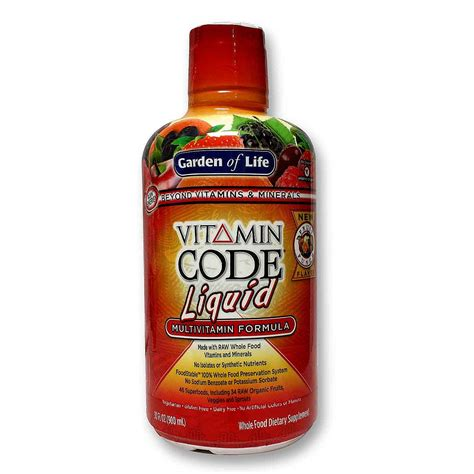 Garden Of Liquid Multivitamin Reviews Garden Of Vitamin Code Liquid Multivitamin Fruit