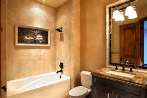 Small Bathroom Decorating Ideas On A Budget guest bathroom bergamo interiors llc