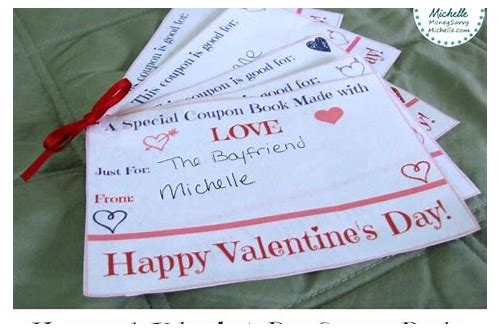 valentine's day homemade coupon book ideas
