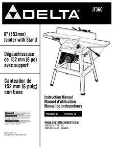 Delta Jointer Jt160