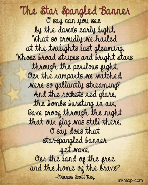some testo the spangled banner some facts and printables