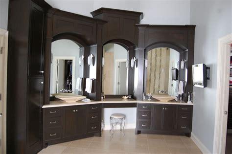handmade custom master bath cabinets  jrs custom