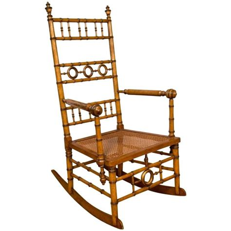 Aesthetic Chair by Aesthetic Movement Faux Bamboo Rocking Chair Attributed To R J Horner And Co For Sale At 1stdibs