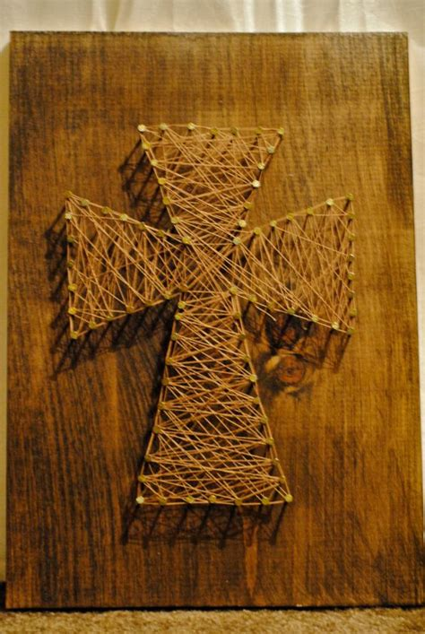 Wood Nail And String - cross wood nail and string i recently made a nail and