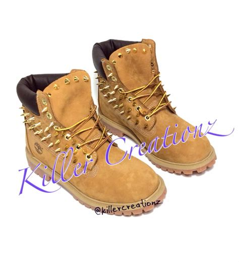 custom spiked timberland boots any size made by