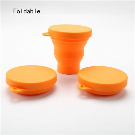 Silicone Foldable Cup folding water cup outdoor silicone travel collapsible