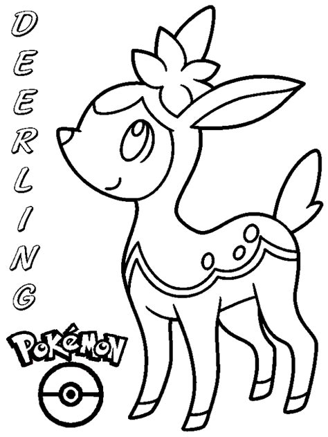pokemon coloring pages deerling coloring books pokemon deerling to print and free download