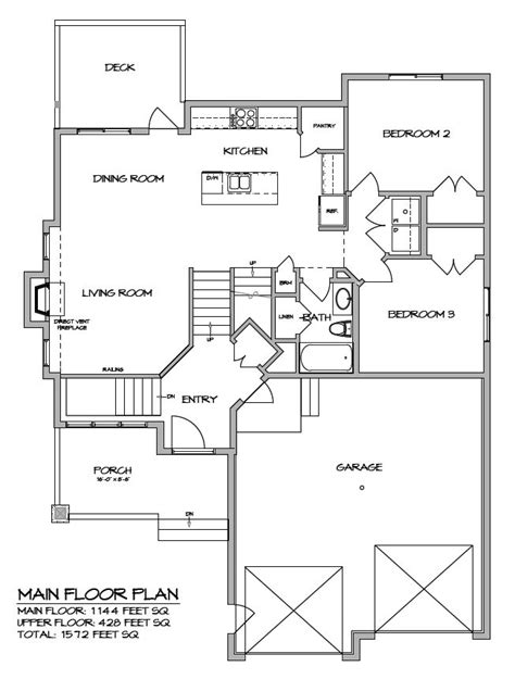 modified bi level floor plans this 1572 sq ft custom built modified bi level features