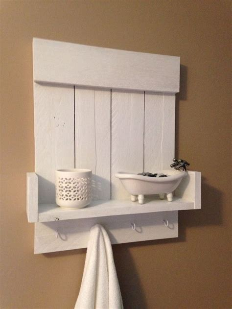 Handmade Shelf - handmade reclaimed pallet wall shelf in white upcycled