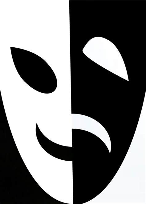 imagenes en blanco y negro de teatro ilustraci 243 n gratis m 225 scara negro blanco feliz imagen