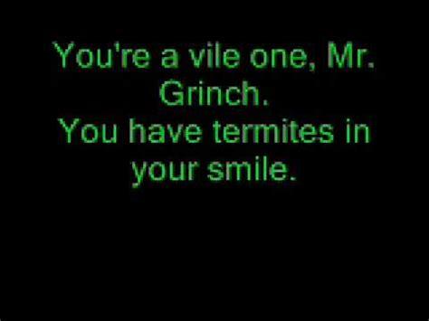 lyrics mr mr grinch lyrics performed by thurl ravenscroft