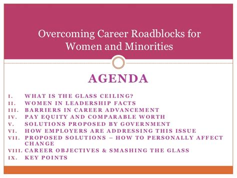 Overcoming The Glass Ceiling by Breaking The Glass Ceiling Overcoming Career Roadblocks