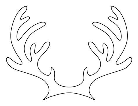 template for reindeer antlers printable reindeer antlers pattern use the pattern for