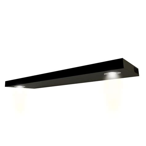 floating shelves with led lights recharchable usb floating shelf black wall led lighted