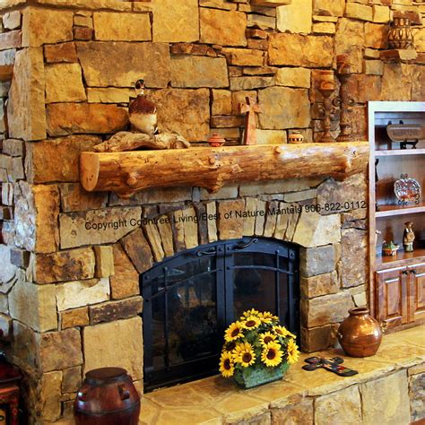 Log Fireplace Mantel by Wood Fireplace Mantels Log Mantel Antique Rustic Wood
