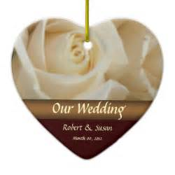 roses wedding favor keepsake christmas ornaments zazzle