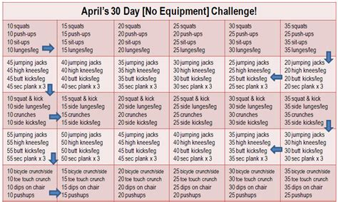 30 day workout plan for men at home run pink run happy join my 30 day no equipment challenge
